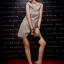 DRESS ชุดเดรสแฟชั่น ใส่ทำงาน ใส่เที่ยว ผ้าซาติน สีเทาอมเขียว สม็อคอกด้านหลัง น่ารัก สามารถใส่ออกงานได้ สวยมากๆ จ้า thaishoponline (พร้อมส่ง) thumbnail 4