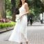 ชุดราตรียาว Brand Mei Na ชุดเดรสยาวแขนกุด ตัวเสื้อผ้าโปร่งสีน้ำตาล แต่งด้วยดิ้นสีขาว ตัวกระโปรงผ้าชีฟองสีขาว สวยมากๆครับ (พร้อมส่ง) thumbnail 5