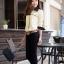 เสื้อทำงาน เสื้อแฟชั่น เสื้อเกาหลี เสื้อแขนยาว คอปก กระดุมหน้า กระเป๋าหน้า เสื้อสีครีม สวยมากๆ (พร้อมส่ง) thumbnail 2