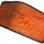 กระเป๋าสตางค์ 2 พับ หนังจระเข้เเท้ หนังต่อเย็บมือ สีส้ม thumbnail 2