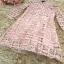 ชุดเดรสสวยๆ ผ้าถักโครเชต์สีชมพู คอจีน เดรสเข้ารูปช่วงเอว กระโปรงทรงเอ thumbnail 11