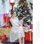 ชุดเดรสสไตล์เจ้าหญิง ผ้าลูกไม้ปักลายสีขาว งานปักละเอียดสวยมากๆ thumbnail 7