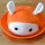 Y001-2**พร้อมส่ง** (ปลีก+ส่ง) หมวก สาน เด็ก ลายกระต่าย แฟชั่นเกาหหลี งานนำเข้า(Made in China) thumbnail 5