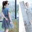 ชุดเดรสยีนส์ แฟชั่นเกาหลี แขนสั้น หน้าอกแต่งด้วยผ้าลายหน้าผู้หญิงเหมือนแบบ thumbnail 9