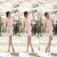 เสื้อผ้าแฟชั่นเกาหลี Set 2 ชิ้น เสื้อผ้าชีฟองสีชมพู แขนระบายปักมุก พร้อมเข็มขัด สวยมากๆ thumbnail 7