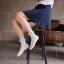 S401**พร้อมส่ง** (ปลีก+ส่ง) ถุงเท้าแฟชั่น ข้อยาว แต่งระบาย คละ5 สี เนื้อดี งานนำเข้า มี 10 คู่ต่อแพ็ค thumbnail 3