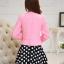 แฟชั่นเกาหลี set เสื้อสูท สีชมพู และกระโปรง สวยมากๆ thumbnail 4