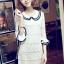 DRESS ชุดเดรสแฟชั่นผ้าลูกไม้ สีเบจ คอตุ๊กตาเกาหลี ใส่ทำงาน สามารถใส่ออกงานได้ น่ารักมากๆ ครับ (พร้อมส่ง) thumbnail 6