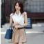 เสื้อเกาหลี style good you เสื้อเชิ๊ตสีขาว คอแหลมแต่งลูกไม้ช่วงบน แต่งระบายลูกไม้ด้านหน้า ติดกระดุมผ่าหน้า สวยเหมือนแบบ พร้อมส่ง thumbnail 3