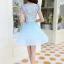ชุดเดรสสวยๆ ตัวเสื้อผ้าลูกไม้ ปักสีฟ้า พิมพ์ลายดอกกุหลาบ thumbnail 6
