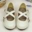 Pre-Order รองเท้าตุ๊กตา-สีขาวเทา thumbnail 1