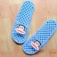 K011-SBL **พร้อมส่ง** (ปลีก+ส่ง) รองเท้านวดสปา เพื่อสุขภาพ ปุ่มเล็ก ลิง Pual Frank สีฟ้า ส่งคู่ละ 150 บ. thumbnail 6