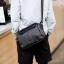 Pre-order ขายส่ง กระเป๋าผู้ชายสะพายลำลองสบายๆ Messenger bag แฟขั่นเกาหลี รหัส Man-6741 สีดำ thumbnail 1
