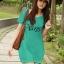 (Sale สกรีนบางจุดไม่คมชัด) เสื้อยืดเกาหลี ตัวยาว ลาย Virgo สีเขียว thumbnail 1