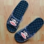 K011-BL **พร้อมส่ง** (ปลีก+ส่ง) รองเท้านวดสปา เพื่อสุขภาพ ปุ่มเล็ก ลิง Pual Frank สีกรมท่า ส่งคู่ละ 150 บ. thumbnail 2