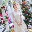 ชุดเดรสสไตล์เจ้าหญิง ผ้าลูกไม้ปักลายสีขาว งานปักละเอียดสวยมากๆ thumbnail 1