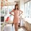 ชุดเดรส ชุดแซกเกาหลี Brand FLENKIY ชุดเดรสลูกไม้ ตัวชุดด้านหน้าผ้าถักสีชมพูโอรส คอเสื้อและเอวคาดด้วย ผ้าชีฟองสีชมพูโอรส สวยมากๆครับ (พร้อมส่ง) thumbnail 4