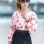 เสื้อผ้าแฟชั่น สุด Chic เสื้อแฟชั่นแขนยาว ผ้าเกาหลี ลายดอกกุหลาบ รหัส 9008_2 thumbnail 1
