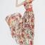 ชุดเดรสยาว Brand Luomeidisha ชุดเดรสแขนกุด ผ้าชีฟองเนื้อดี ลายดอกไม้สีแดง พร้อมผ้าผูกเอวและกระโปรงยาว (พร้อมส่ง) thumbnail 5
