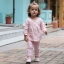 เสื้อผ้าเด็กทารกหญิง ราคาถูกจากโรงงาน สไตล์เกาหลี อายุ 0-1-2-3 ปี รหัส YH618 สีชมพู 1 ชุด ไซร์ 70 (ส่วนสูง 59-66 cm ) thumbnail 1