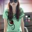 เสื้อยืดแฟชั่น ผ้าเนื้อนุ่ม ลายโน๊ตดนตรี สีเขียวมินท์ thumbnail 1