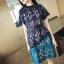 ชุดเดรสสวยๆ ผ้าถักโครเชต์สีน้ำเงินเข้ม เอวคาดด้วยผ้าแถบริบบิ้นขนาดใหญ่สีดำ thumbnail 11