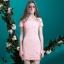 ชุดเดรสสวยๆ ผ้าคอตตอนผสม spandex เนื้อนุ่มมาก สีชมพู thumbnail 6