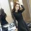 ชุดเดรสสีดำ แขนยาว ตัวเสื้อและแขนเสื้อเป็น ผ้าลูกไม้ชนิดยืดหยุ่นได้ดีสีดำ thumbnail 4
