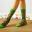 S307 **พร้อมส่ง**(ปลีก+ส่ง) ถุงเท้าข้อยาว แฟชั่นเกาหลี มี 12 คู่ต่อแพ็ค พร้อมกล่อง เนื้อดี งานนำเข้า(Made in China) thumbnail 6