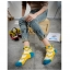 S367**พร้อมส่ง** (ปลีก+ส่ง) ถุงเท้าแฟชั่นเกาหลี ข้อสั้น แต่งขอบ ประดับลูกตุ้ม เนื้อดี งานนำเข้า(Made in china) thumbnail 10