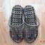 K013-BK **พร้อมส่ง** (ปลีก+ส่ง) รองเท้านวดสปา เพื่อสุขภาพ ปุ่มเล็ก (ใส) หูหนีบ สีดำ ส่งคู่ละ 80 บ. thumbnail 3