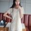 ชุดเดรส ชุดเดรสสั้น แฟชั่นเกาหลี ชุดเดรสลูกไม้ แขนสั้น สีครีม น่ารัก ใส่ทำงาน ใส่ไปงานแต่งงาน ใส่เป็นชุดทำงาน สวยมากๆครับ (พร้อมส่ง) thumbnail 2