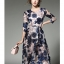 ชุดเดรสสวยๆ ผ้าปักริบบิ้นเป็นรูปดอกไม้ โทนสีน้ำเงิน และสีชมพูกะปิ thumbnail 2