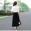 แฟชั่นเกาหลี set เสื้อ กระโปรง พร้อมเข็มขัดหนังสีดำ เหมือนแบบ thumbnail 10