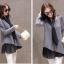 เสื้อผ้าไหมพรม แฟชั่นเกาหลี เนื้อบาง แขนยาว สีเทา thumbnail 3