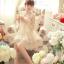 ชุดเดรสลูกไม้ แขนยาว Princess style สีครีม คอปักมุกสีขาว พร้อมเข็มกลัดรูปผู้หญิงติดที่คอเสื้อ thumbnail 10