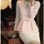 เสื้อทำงาน SL Style เสื้อแขนยาว ผ้าชีฟอง สีชมพูโอรส คอเสื้อประดับด้วยคริสตรัลใส และมุกสีขาว พร้อมเข็มขัด (พร้อมส่ง) thumbnail 4