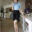 เสื้อทำงาน แฟชั่นเกาหลี เสื้อทำงานสีฟ้า เสื้อเชิ๊ตทำงาน ผ้าชีฟอง คอปก แขนสั้น กระดุมหน้า เหมาะกับสาวทำงานออฟฟิศ สวยมากๆครับ (พร้อมส่ง) thumbnail 2