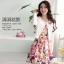 แฟชั่นเกาหลี set 2 ชิ้น เสื้อสูท + เดรส สวยสุดๆ มาพร้อมเข็มกลัดรูปดอกไม้ และเข็มขัดสีขาว เหมือนแบบ thumbnail 8