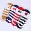 S192 **พร้อมส่ง** (ปลีก+ส่ง) ถุงเท้า ผ้าใบ ข้อสั้นใต้ตาตุ่ม มีซิลิโคนกันหลุดด้านหลัง มี 3 สี(แบบ) เนื้อดี งานนำเข้า(Made in China) thumbnail 2