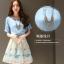 แฟชั่นเกาหลี set 2 ชิ้น เสื้อและกระโปรงสุดสวย มาพร้อมสร้อยคอเหมือนแบบ thumbnail 4