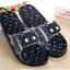 K020-ฺDBL **พร้อมส่ง** (ปลีก+ส่ง) รองเท้านวดสปา เพื่อสุขภาพ ปุ่มใหญ่สลับเล็ก (การ์ตูน) สีกรมท่า ส่งคู่ละ 150 บ. thumbnail 2