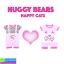 ชุด HUGGY BEARS แมวน่ารัก เซ็ต 2 ตัว ราคา 240 บาท ปกติ 700 บาท thumbnail 1