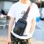 Pre-order กระเป๋าผู้ชายคาดอก สะพายลำลองสบายๆ ใส่ ipad tap 8 นิ้ว แฟขั่นเกาหลี รหัส Man-5205 สีดำ thumbnail 1