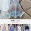 ชุดเดรสสวยๆ ผ้าชีฟอง สีฟ้า พิมพ์ลายการ์ตูน น่ารักมากๆ thumbnail 6