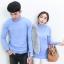 Jhino Couple เสื้อไหมพรมคอเต่า ผ้าพื้น อุ่นมาก มี 5 สี thumbnail 3