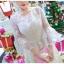ชุดเดรสสไตล์เจ้าหญิง ผ้าลูกไม้ปักลายสีขาว งานปักละเอียดสวยมากๆ thumbnail 5