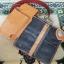 ซองหนังใส่กระเป๋าหนังแท้ + กระเป๋า หนังแท้ สีน้ำตาล thumbnail 3