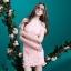 ชุดเดรสสวยๆ ผ้าคอตตอนผสม spandex เนื้อนุ่มมาก สีชมพู thumbnail 5