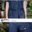ชุดเดรสยีนส์ สีน้ำเงินเข้ม แขนสั้น มีกระเป๋าเสื้อที่หน้าอก thumbnail 9